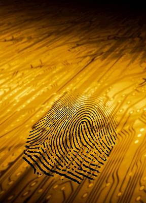 Biometric Security, Artwork Print by Victor Habbick Visions