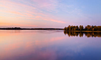 Birch Lake Sunset Art Print