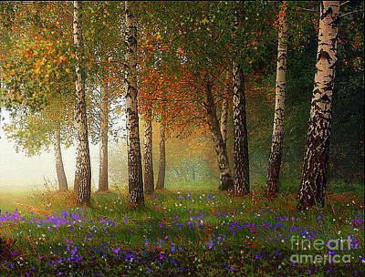 Robert Foster Painting - Birch Meadow by Robert Foster