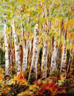 Birch Tree In Sunshine Art Print