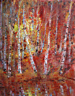 Painting - Birch Trees by Viola El