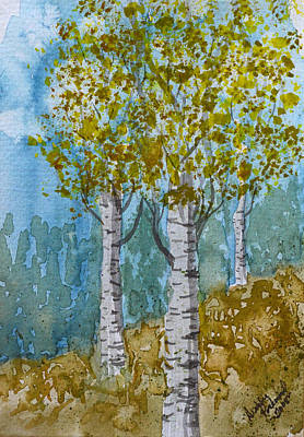 Painting - Birch Trees by Debbie Portwood