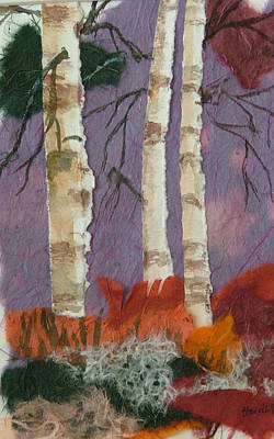 Birch Trio Art Print