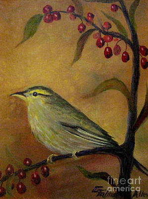Painting - Bird And Berries by Gretchen Allen