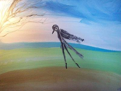 Solo Dancer Painting - Bird Ballet Solo by Judith Desrosiers