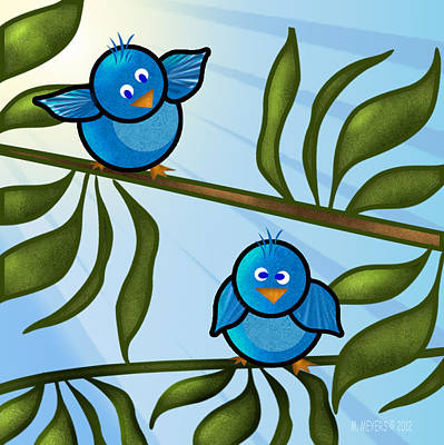 Bird Branch2 Art Print by Melisa Meyers