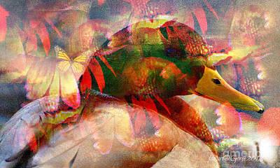 Unhelped Mixed Media - Bird But No Comfort by Fania Simon