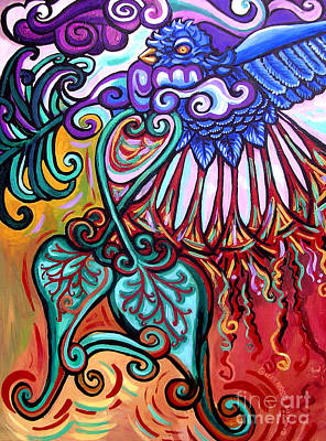 Bird Heart I Art Print by Genevieve Esson