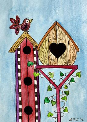Bird House Art Print by Lisa Frances Judd