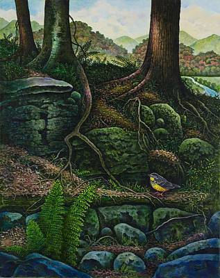 Bird In Paradise Vii Art Print by Michael Frank