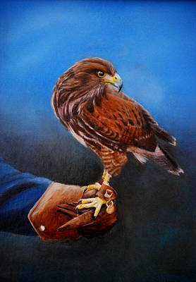 Painting - Bird In The Hand by Lynn Hughes