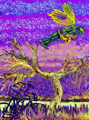 Saxaphones Digital Art - Bird In The Sky by Robin Jensen