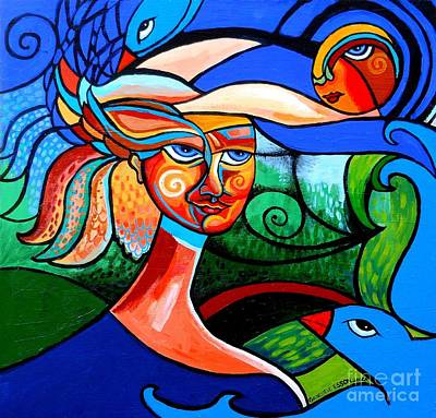 Painting - Bird Lady by Genevieve Esson