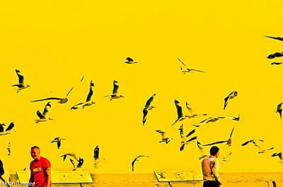 Bird Scenery Art Print by Kornrawiee Miu Miu