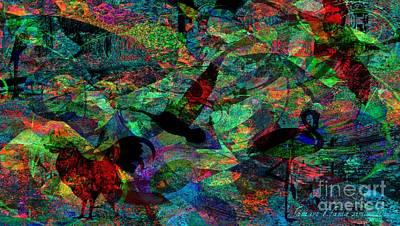 Visionary Art Display Digital Art - Bird Story And Song by Fania Simon