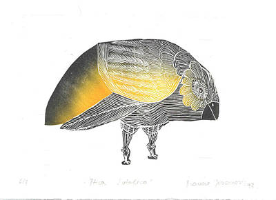 Bird Without A Voice Print by Branko Jovanovic