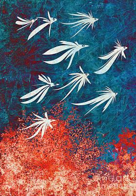 Surrealist Digital Art - Birdeeze -v04 by Variance Collections