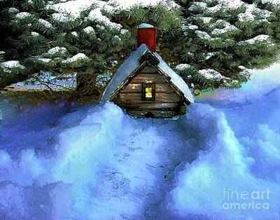 Digital Art - Birdhouse Grounded by Dale   Ford
