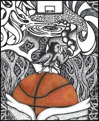 Birdland Basketball Original by Steve Weber