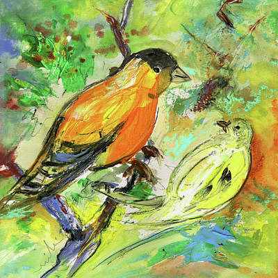 Painting - Birds 01 by Miki De Goodaboom