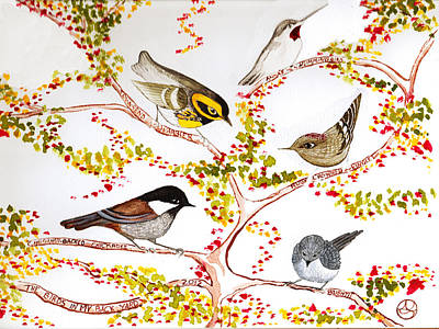 Birds In My Backyard Art Print