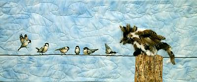 Tapestry - Textile - Birds Of A Feather? by Loretta Alvarado