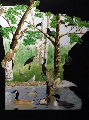 Canadian Geese Painting - Birds Of Mn by Terry Honstead