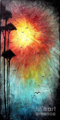The Trees Mixed Media - Birds Of The Sun by Michael Grubb
