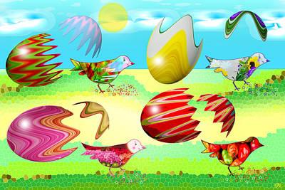 Birds Art Print by Victoria Regueira