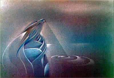 Pastel - Birdscape 1982 by Glenn Bautista