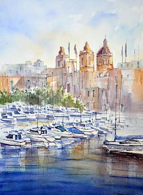Birgu Painting - Birgu Marina by Jacqueline Agius