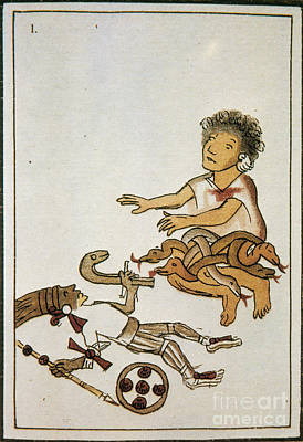 Birth If Huitzilopochtli, 16th Century Print by Photo Researchers