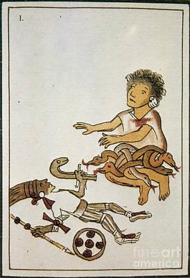 Historia Wall Art - Photograph - Birth If Huitzilopochtli, 16th Century by Photo Researchers