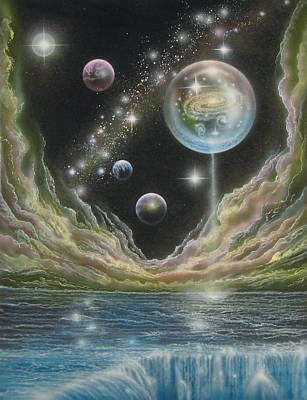 Cosmology Painting - Birth Of A Universe by Sam Del Russi