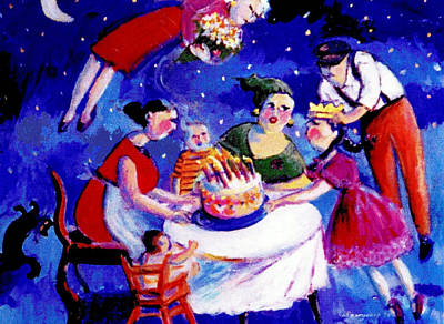 Painting - Birthday by Anne Marie Bourgeois