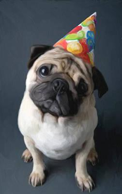 Pet Portraits Digital Art - Birthday Boy by Snake Jagger