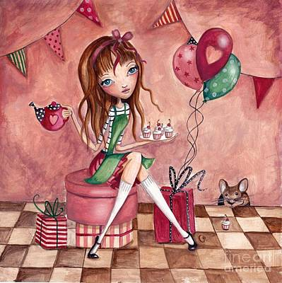 Birthday Painting - Birthday Girl by Caroline Bonne-Muller