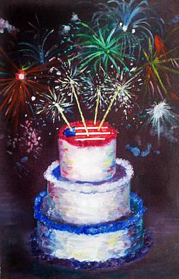 Birthday In America Art Print by Ann Marie Napoli