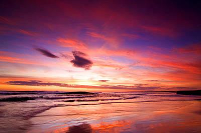 Birubi Point Sunset Art Print