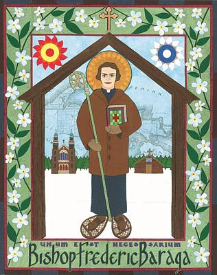 Bishop Frederic Baraga Icon Art Print by David Raber