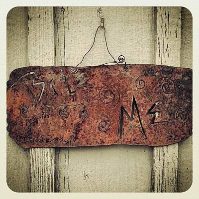 Rust Wall Art - Photograph - bite Me Sign by Emma Holton
