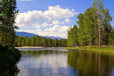 Montana Landscape Photograph - Bitterroot River In June by Merle Ann Loman