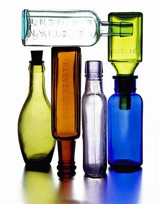 Bitters Bottles Art Print by Michael Kraus
