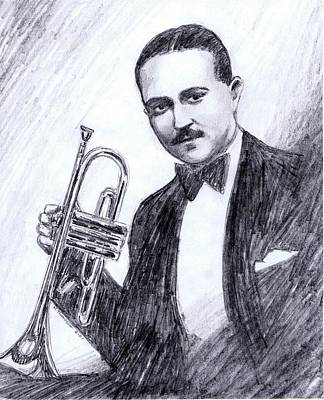 Bix Beiderbecke 1929 Art Print by Mel Thompson