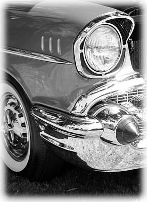Black And White 1957 Chevy Art Print by Steve McKinzie
