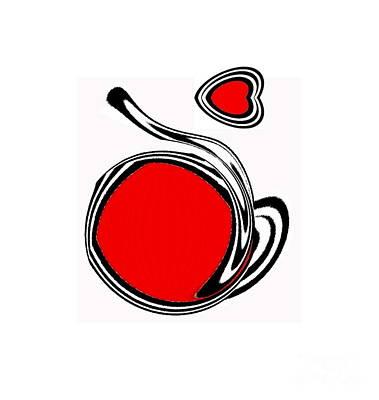 Minimalism Black White Red Art No.93. Original by Drinka Mercep