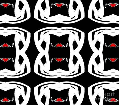 Pattern Black White Red No.92. Art Print by Drinka Mercep