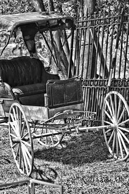 Photograph - Black And White Buggy by Traci Cottingham