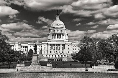 Black And White Capitol Art Print by Jim Moore