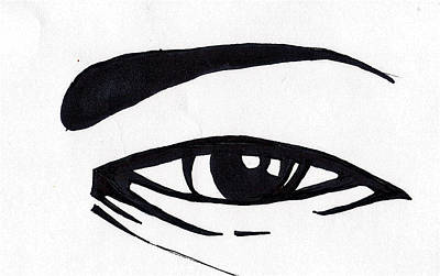 Drawing - Black And White Eye by Marc Chambers